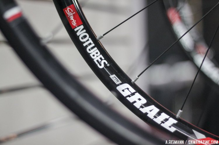 Stan's NoTubes's ZTR Grail Disc wheel set is the newest offering, with the company's deepest profile yet. © Andrew Reimann