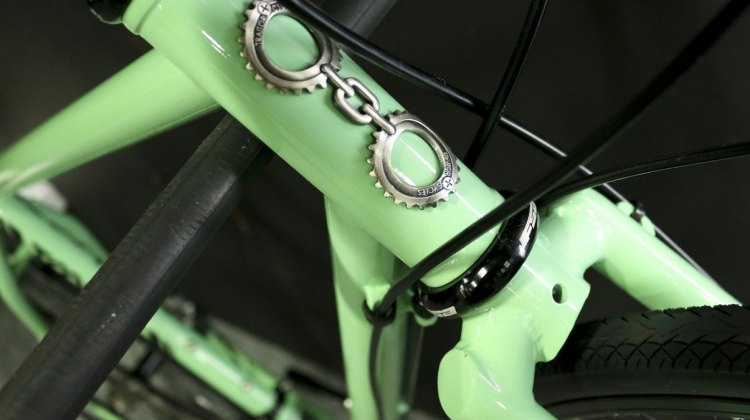 The minty fresh drop bar Ruben comes with gears, disc brakes and a steel fork and retails for $1399. © Cyclocross Magazine
