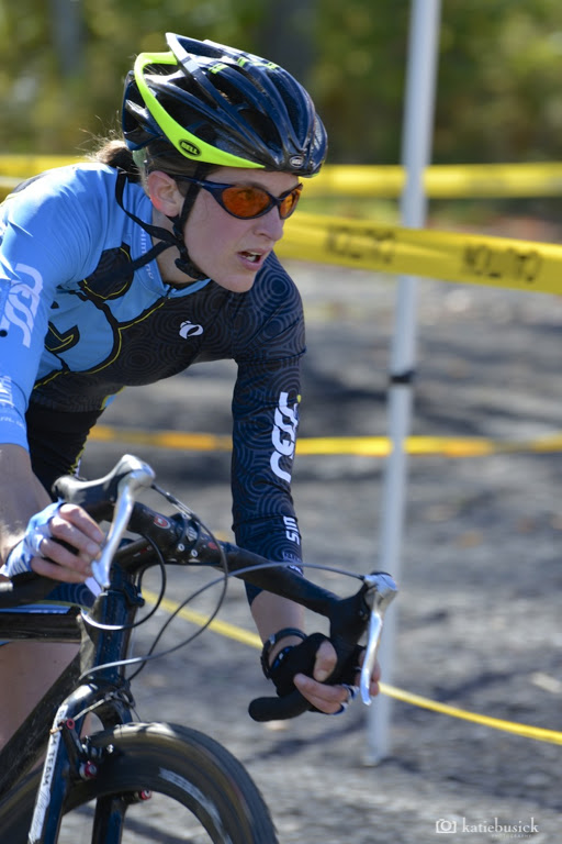 Kate Northcott took control of the women's race at Minuteman Cyclocross. © Katie Busick Photography