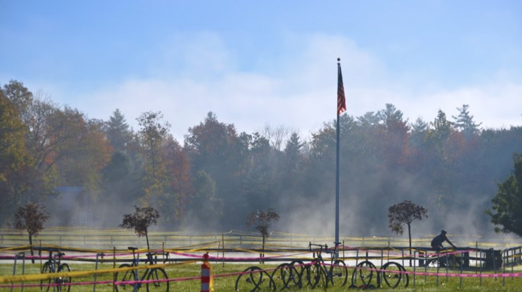 Autumn in New England set the stage for the fourth annual Minuteman Cyclocross Race. © Katie Busick Photography