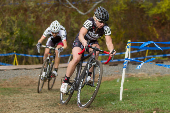 Laura Van Gilder, shown here powering through the 2013 CSI course, hopes to race to victory this weekend in Northampton. © Todd Prekaski