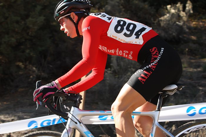 Serena Bishop took her first win of the Cross Crusade at home in Bend.