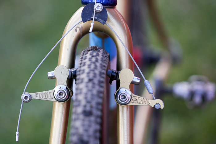 Paul Components not only provides the cantilever brakes, but the bosses as well: an exclusive for Speedvagen. © Pat Malach