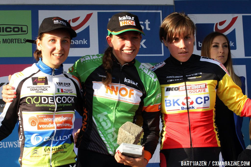 sophie-de-boer-wins-the-koppenbergcross-2014-going-away-from-jolien-verschueren-and-sanne-cant-bart-hazen-cyclocross-magazine