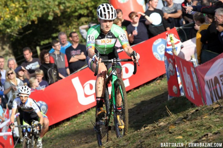 Elle Anderson moved to Europe to race during the 2014/15 season. 2014 Koppenbergcross. © Bart Hazen / Cyclocross Magazine