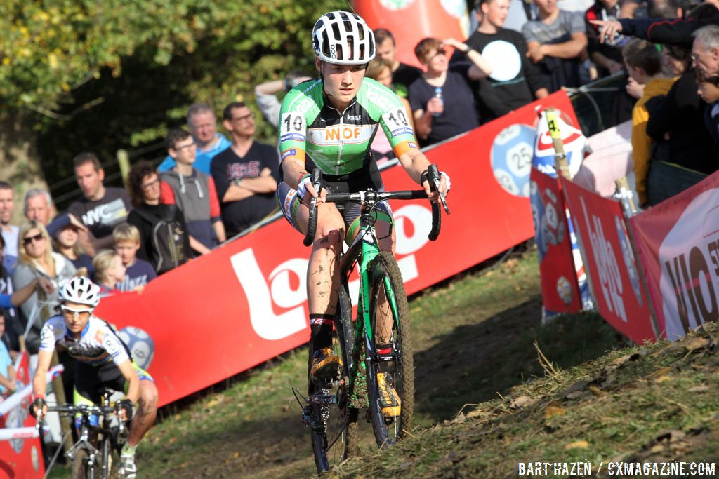 Elle Anderson headed to Europe to race the following season. 2014 Koppenbergcross. © Bart Hazen / Cyclocross Magazine