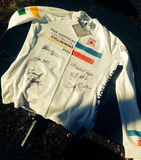 The freshly minted Pan Am jersey signed for the taking. © Joel Quimby