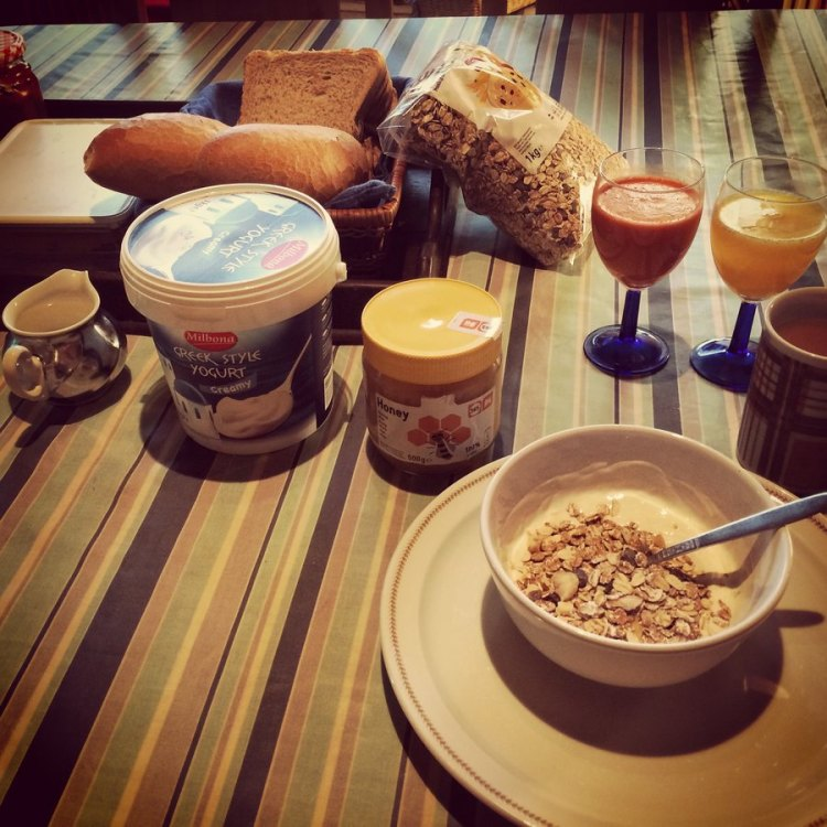 Anderson's breakfast, prep for cycling or just giving an extra boost to the immunity. © Elle Anderson