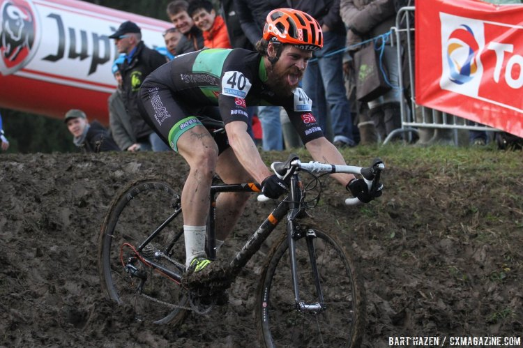 Some riders had more fun than others on the technical, muddy sections. © Bart Hazen