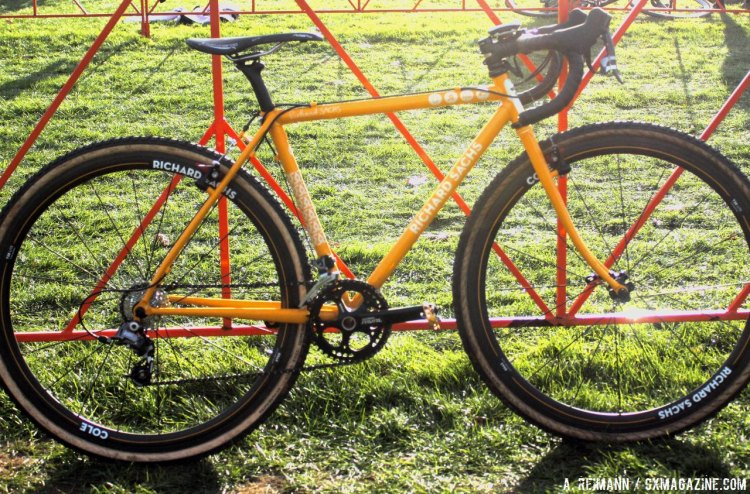 BrittLee Bowman's Richard Sachs Cyclocross Bike, or in other words, artwork that gets intentionally covered in mud every weekend. © Andrew Reimann