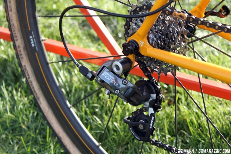 Bowman certainly has no qualms about using an older SRAM 10-speed drivetrain. © Andrew Reimann
