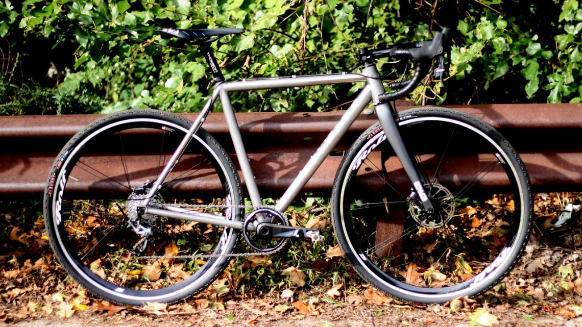 The No.22 Bicycle Company's first cyclocross build, the Broken Arrow. © Andrew Reimann