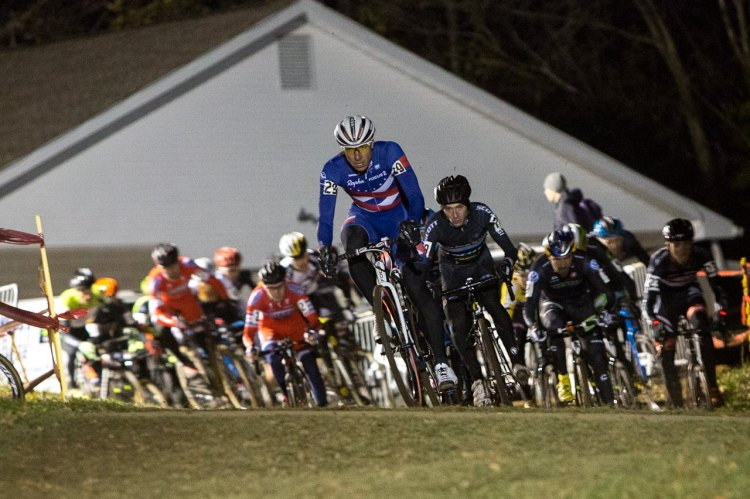Powers led the holeshot, although it would be Summerhill who launched the first strike. © Kent Baumgardt