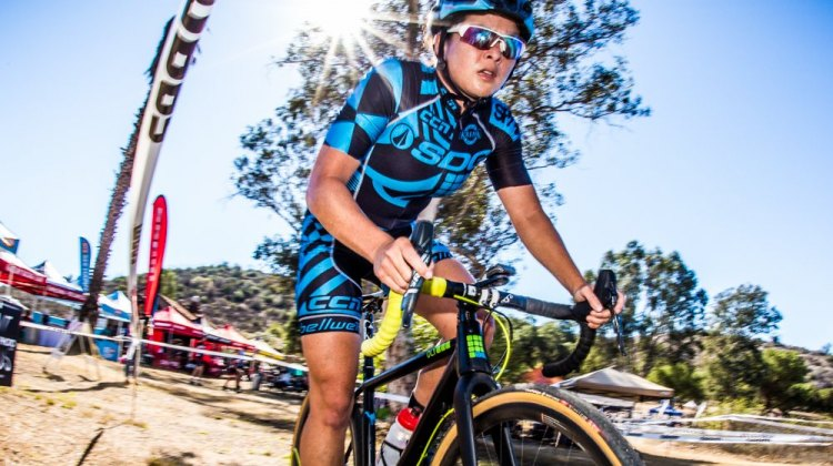 Amanda Nauman came from behind to capture gold in Women's Cat 1 at Udo Cross. © Philip Beckman/PB Creative