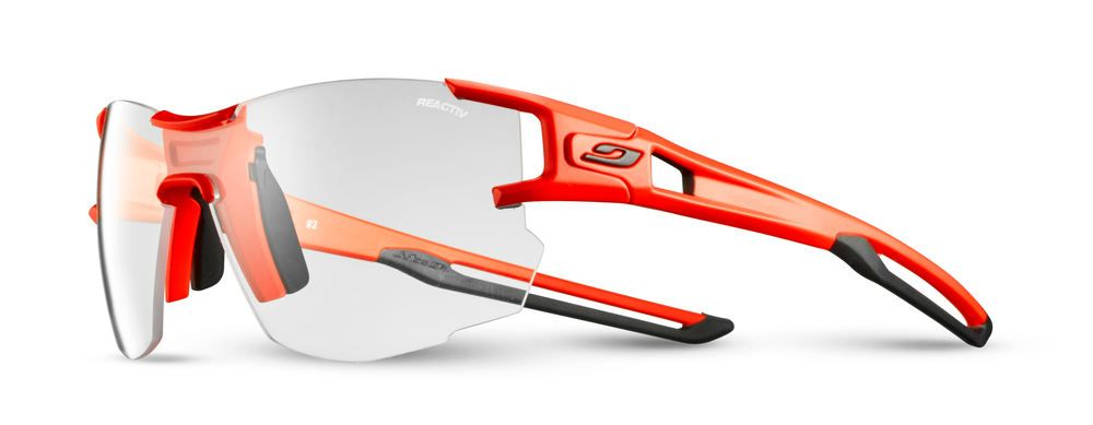 Julbo's Reactiv photochromic lenses do an amazing job of protecting you on sunny days while still offering night riding protection.