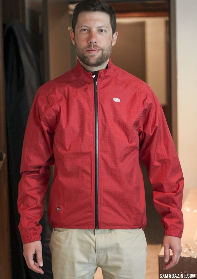 In typical lighting, the SUGOi Zap Rain Jacket looks like a standard-colored jacket. © Cyclocross Magazine