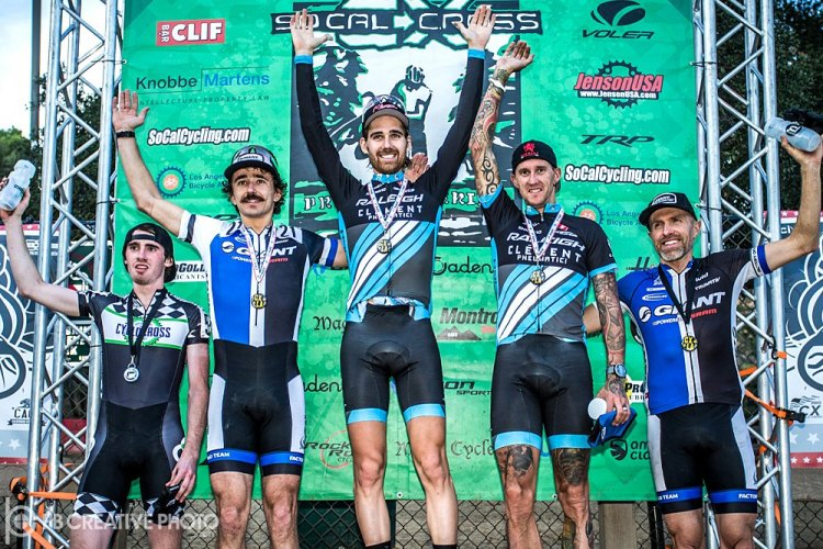 CXLA stars of Sunday's Men's Elite (l-r): McDonald, Craig, Driscoll, Berden, Decker. © Philip Beckman/PB Creative