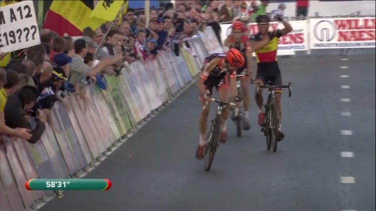 Svenness takes a look at what could be one of the more controversial finishes of this season. Photo grabbed from UCI footage.