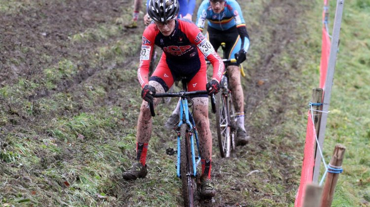 Lance Haidet crossed the line at 14th Sunday in the Junior Race. © Bart Hazen/Cyclocross Magazine