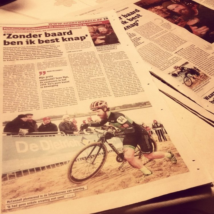 A cyclocross celebrity thanks to a few National Belgium newspapers.