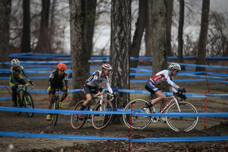 The Elite Women on course today at NBX. © Meg McMahon