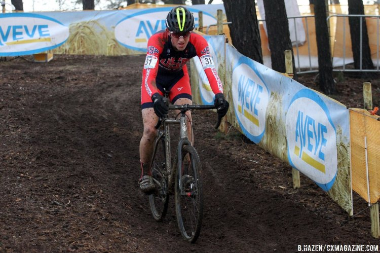Gage Hecht continuing his impressive season. © Bart Hazen/Cyclocross Magazine