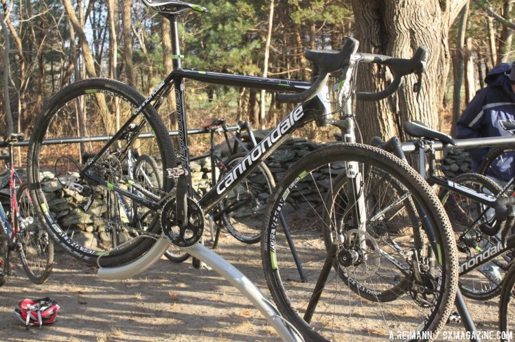 The Cannondale SuperX with a lefty fork at NBX. © Andrew Reimann / Cyclocross Magazine