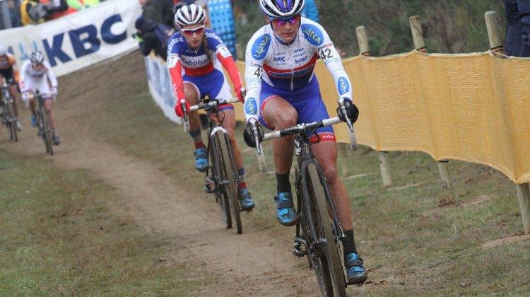 Katerina Nash, shown on a far less muddy day, took the BPost Win this afternoon. © Bart Hazen/Cyclocross Magazine