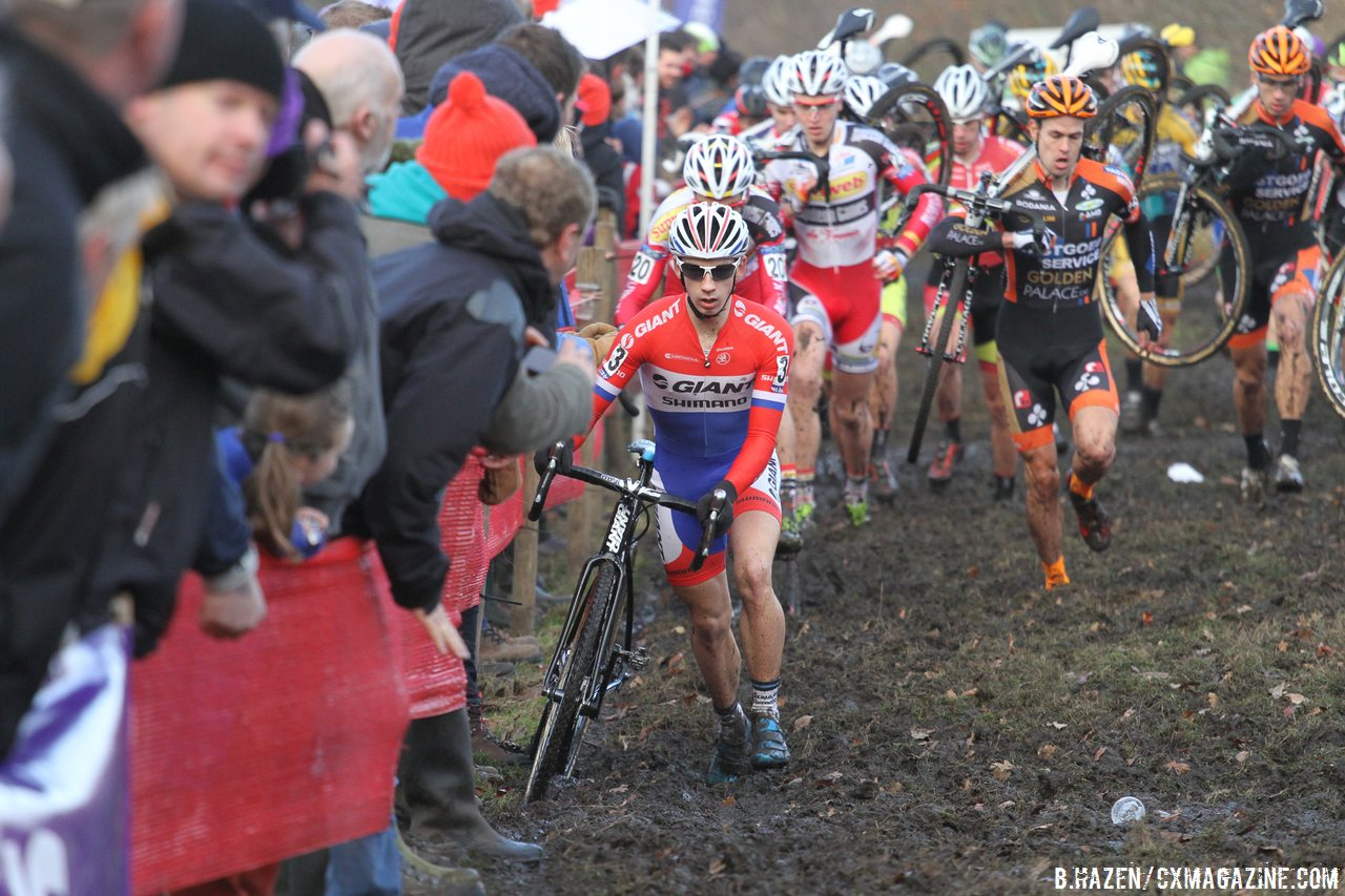 van aert is new series leader with solo win at 2014 bpost bank