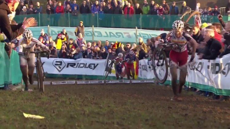 Pauwels had an advantage with a drive side dismount all race. SVENNESS 3.8 takes a look at his win. Footage from Sporza/UCI