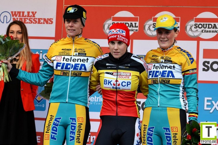 Cant at the top of the podium at Scheldecross in 2014. © Start-Box/Wouter Toelen