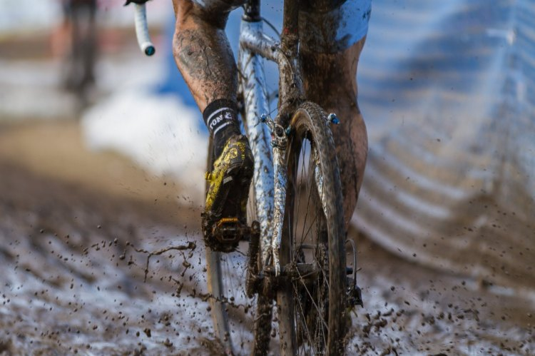 Mud and slush covered nearly the entire course today. © Todd Prekaski