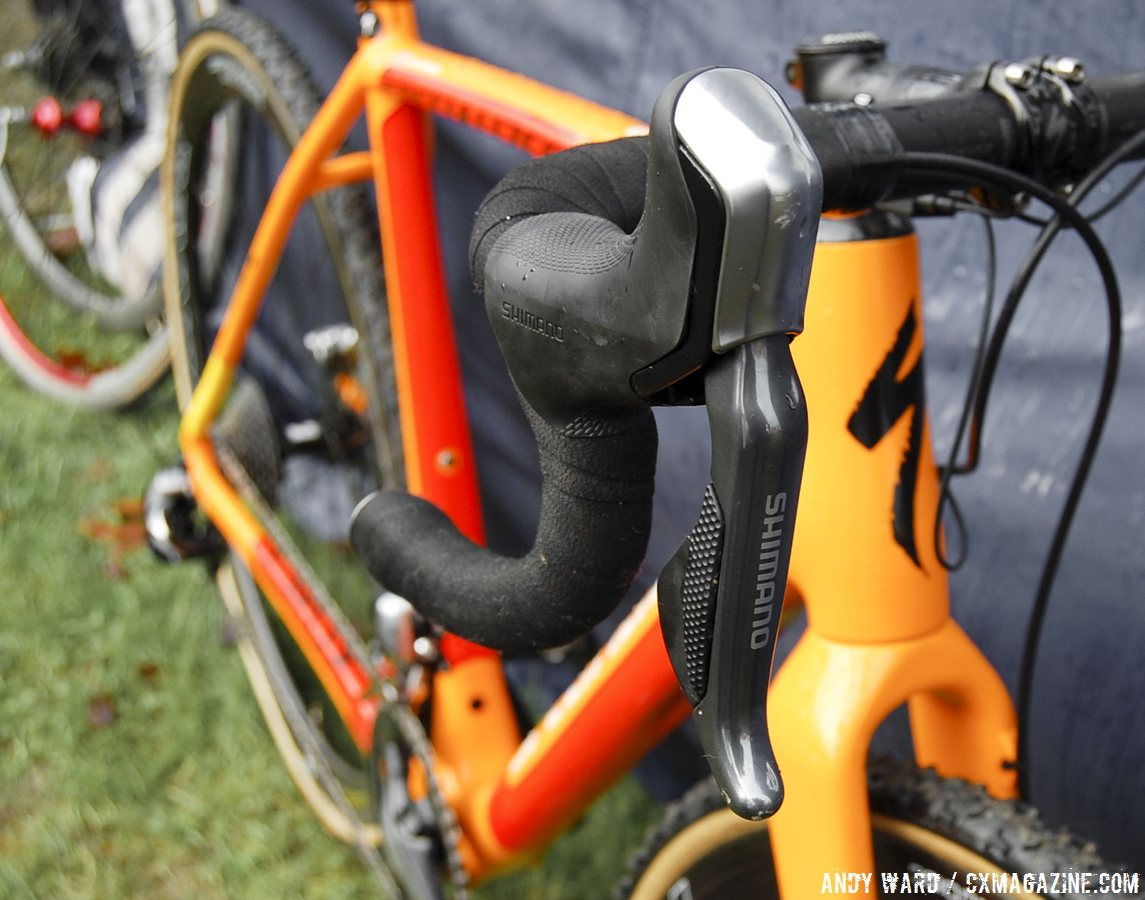 sumner-uses-the-r785-shifters-compatible-with-his-front-di2-dura-ace-derailleur-andy-ward-cyclocross-magazine