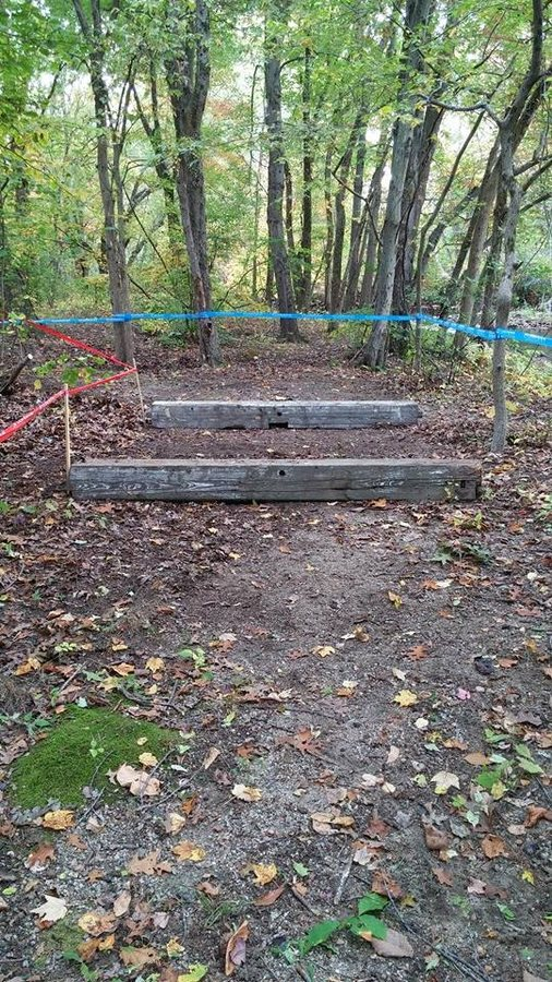 These barriers are actually abandoned plants from the old mill that used to be at the town's economic center. © Riverpoint Cyclocross