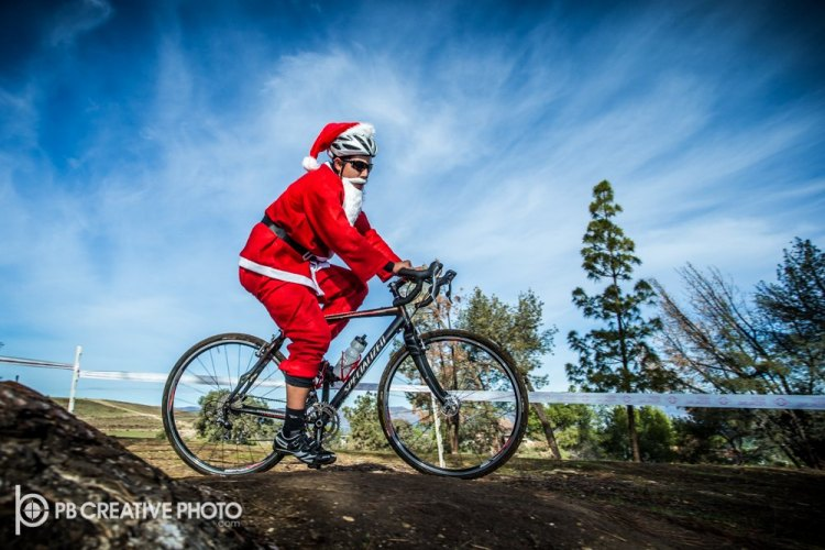 Can't have a Santa Cross without the big guy himself. © Philip Beckman/PB Creative