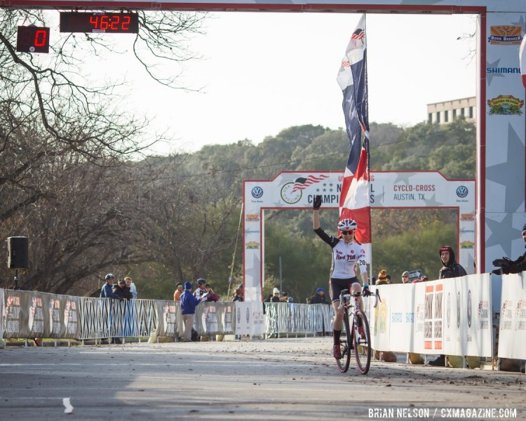 Bruno Roy repeats as Singlespeed National Champion - Zilker Park, Austin, Texas © Brian Nelson / Cyclocross Magazine