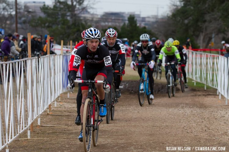 Todd Cassan (Rally Sport Cycling Team) leading through Pit One. © Brian Nelson