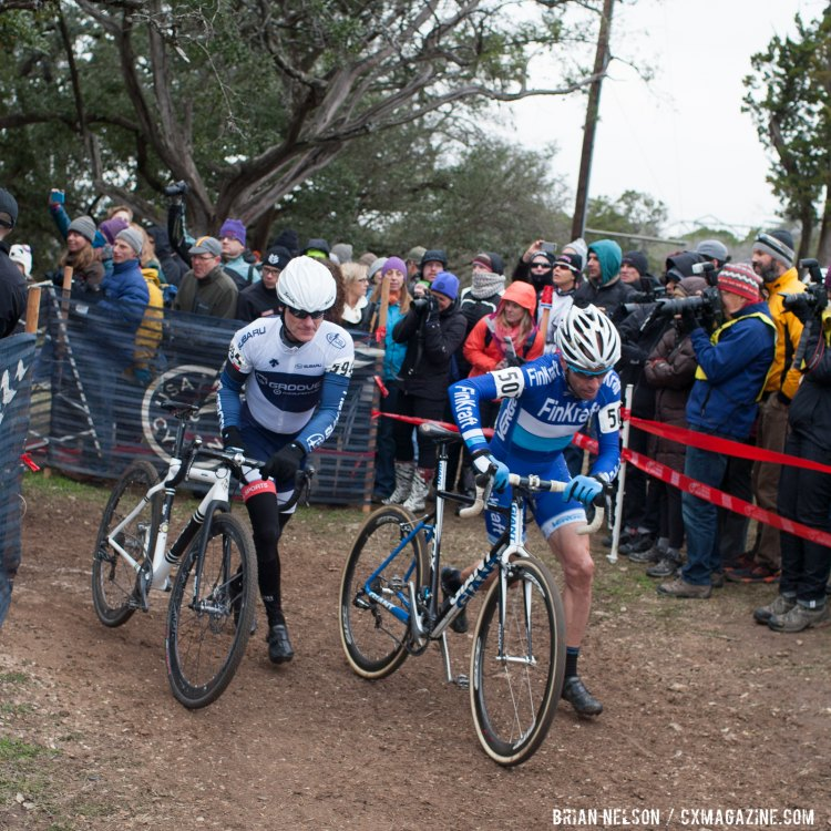 Roger Aspholm (Finkraft Cycling) and Kevin Obrien (Groove Subaru Excel Sports). © Brian Nelson