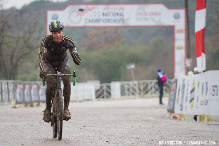 Maxx Chance (University of Colorado Boulder) takes the silver in the D1 after a grueling race. © Brian Nelson