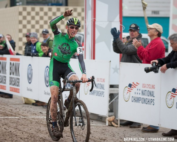 Gage Hect (Alpha Bicycle Co. - Vista Subaru) winning the Junior Men's 17-18 race. © Brian Nelson