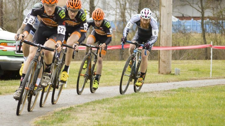 The Mock Orange Bikes train. 2015 Kingsport Cyclocross Cup. © Ali Whittier