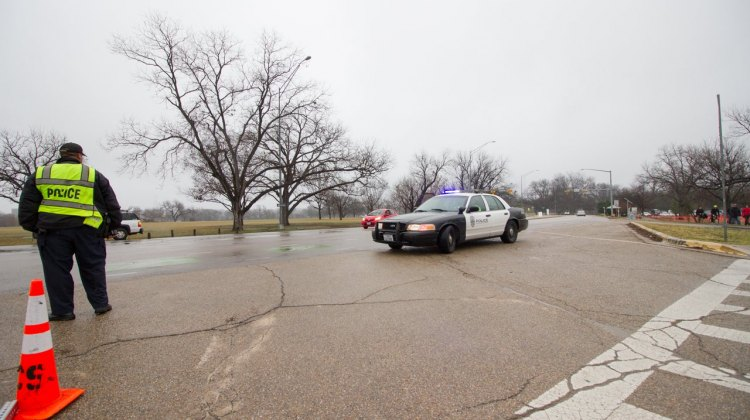 The Austin Police Department arrived and promptly closed the park. © Brian Nelson