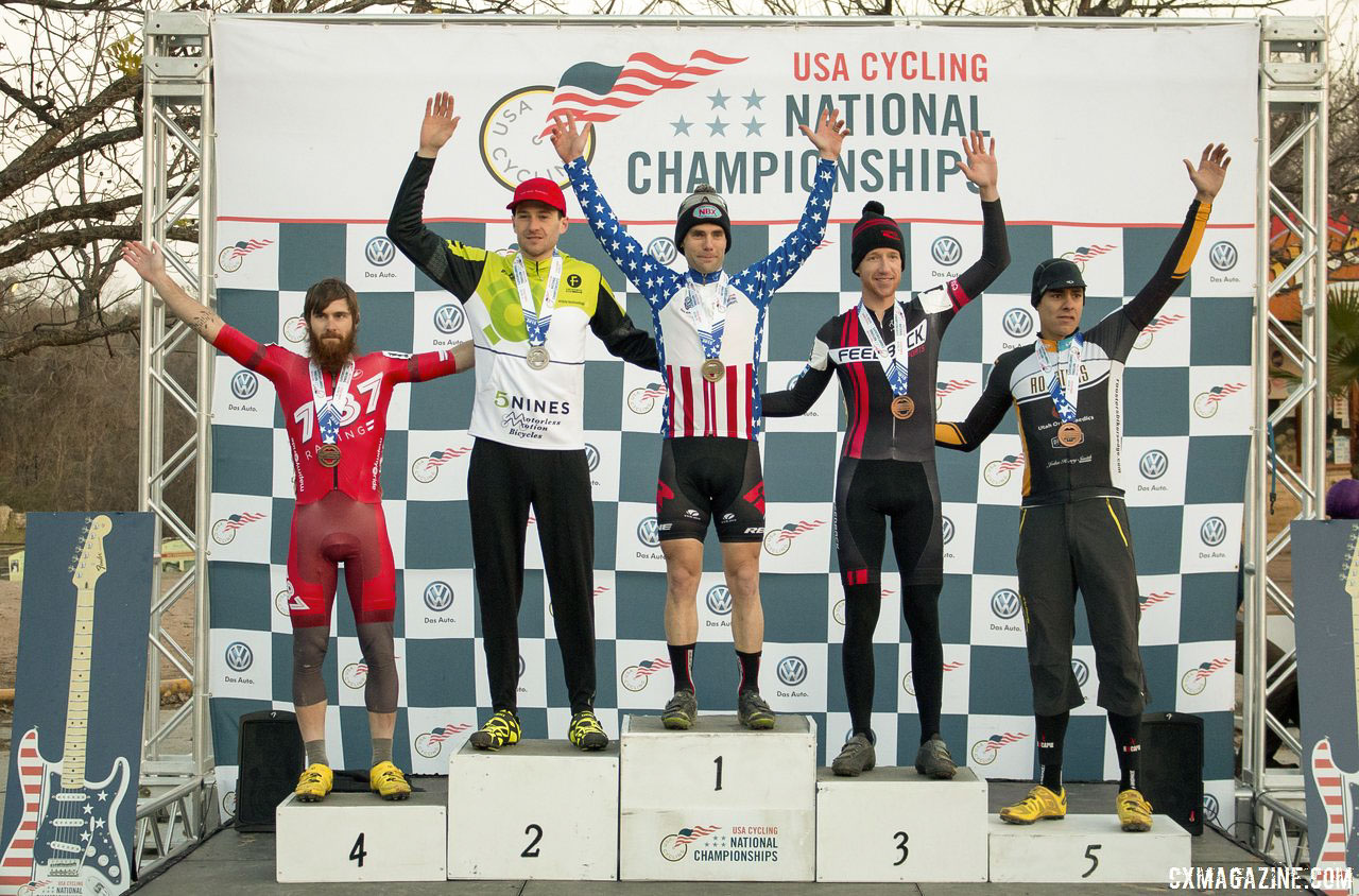 the-singlespeed-mens-podium-at-the-2015-cyclocross-national-championships-uhl-neff-lindine-allen-and-heithecker-cyclocross-magazine