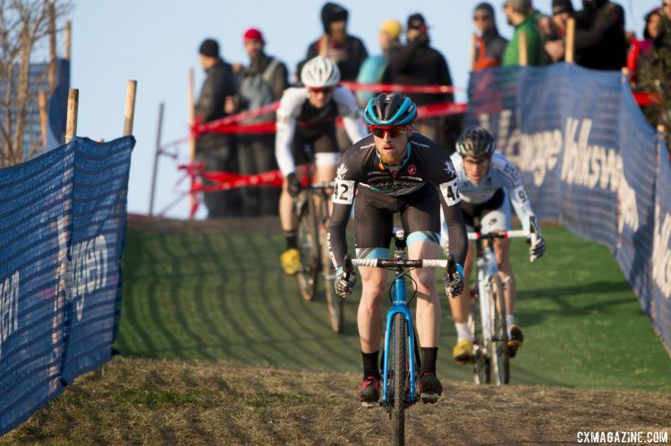 Etheridge fought hard for a top ten on the day. © Cyclocross Magazine