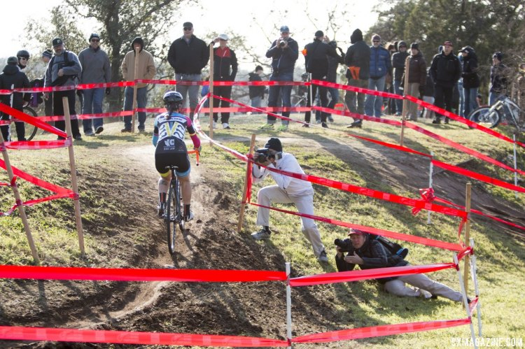 Cutler made short work out of some of the technical sections. © Cyclocross Magazine