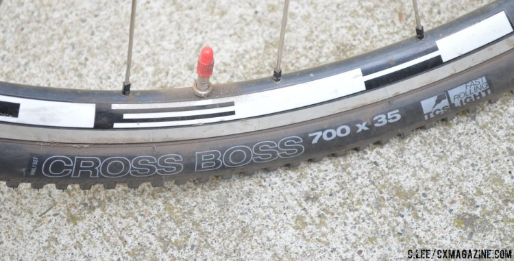 Like a boss: At 35mm wide, the WTB Cross Boss is designed with an audience larger than the UCI racer. © Cyclocross Magazine.