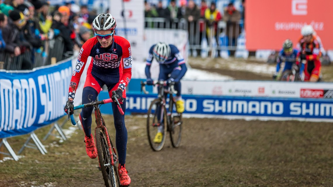 Gavin Haley was the second American, and finished just outside a top ten placing, in 11th. © Mathew Lasala / Cyclocross Magazine