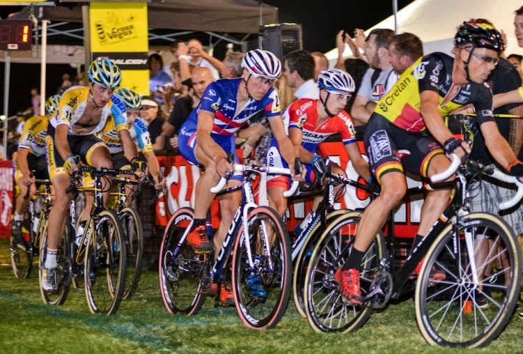 An international field starts at CrossVegas, now selected as a World Cup event. Photo courtesy @CrossVegas