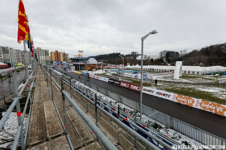 The stands are empty now, but this course will be packed to the brim before the Junior and Women's races tomorrow. © Matthew Lasala/Cyclocross Magazine