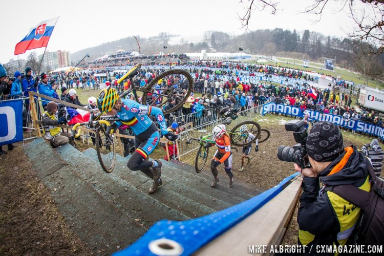 Ellen Van Loy might have defended her title as top full-time worker, with her 8th place. Elite Women - 2015 Cyclocross World Championships © Mike Albright / Cyclocross Magazine